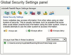 Digital Media Player Global Security Settings