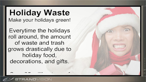 holiday digital signage content sample